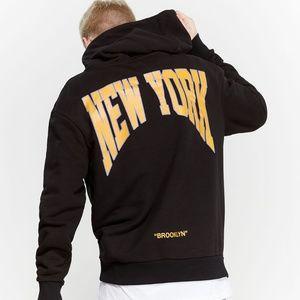 Nwt Corella Brooklyn New York  Black Hoodie L -G8